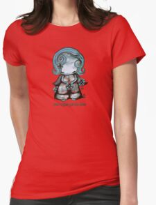 Even Angels Get the Blues in Blues (Sml Design) Womens Fitted T-Shirt