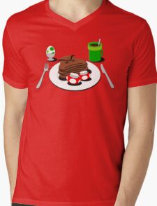 It's-a breakfast time! Mens V-Neck T-Shirt