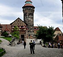 View from the Kaiserburg in Nuernberg by bertspix