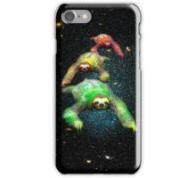 Flying space rasta sloths iPhone Case/Skin