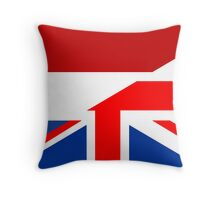 uk netherlands flag Throw Pillow