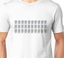 Love Robot Pattern (Blue) Unisex T-Shirt