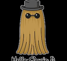 Hello Cousin it -black background- by CoyoDesign