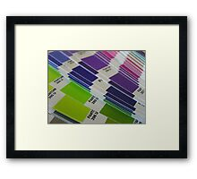 Pantone Swatch Booklet Framed Print