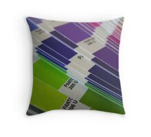 Pantone Swatch Booklet Throw Pillow