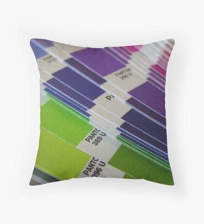 Pantone Swatch Booklet Throw Pillow
