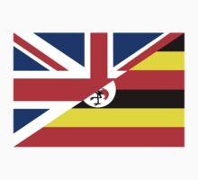 uganda uk flag Kids Tee