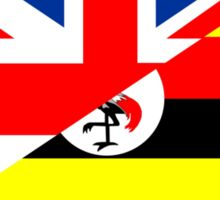 uganda uk flag Sticker