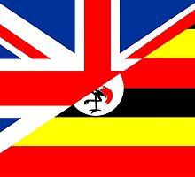 uganda uk flag by tony4urban