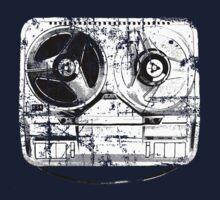 60's Style Reel to Reel Tape Deck Kids Tee