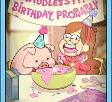 Waddles's Birthday Probably portrait replica by The-Sqoou