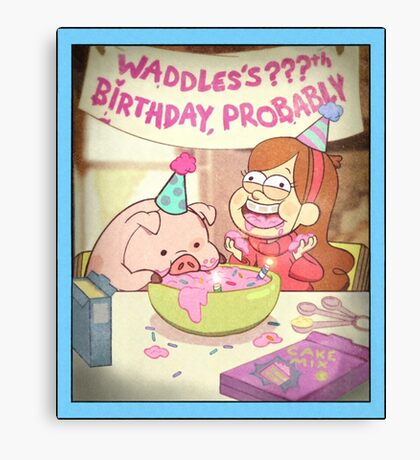 Waddles's Birthday Probably portrait replica Canvas Print