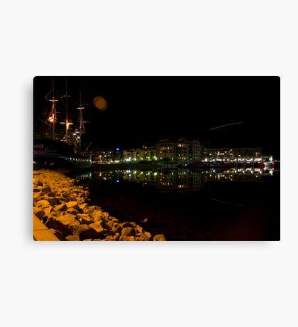 Glenelg by Night  Canvas Print