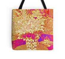 Flowers - Red and gold Tote Bag