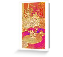 Flowers - Red and gold Greeting Card