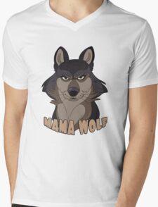 Mama Wolf Mens V-Neck T-Shirt
