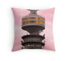 Tower in the Pink Sky Throw Pillow