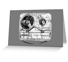 60's Style Reel to Reel Tape Deck Greeting Card
