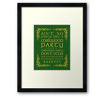 Ain't No Party Like a Mirkwood Party Framed Print