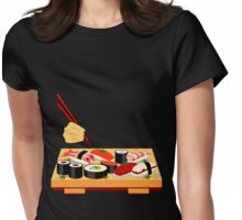 Sushi plate... Womens Fitted T-Shirt