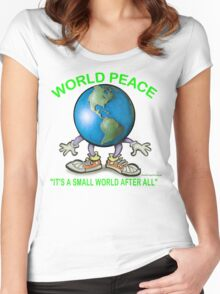 World Peace Women's Fitted Scoop T-Shirt