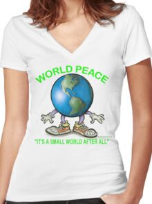 World Peace Women's Fitted V-Neck T-Shirt