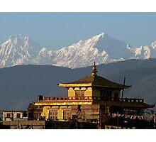 Boudhanath Monastry and Himalayas Photographic Print