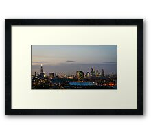 London, skyline from Greenwich Framed Print