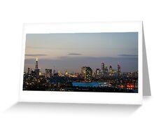 London, skyline from Greenwich Greeting Card