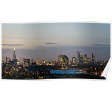 London, skyline from Greenwich Poster