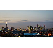 London, skyline from Greenwich Photographic Print