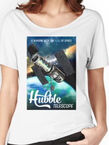Hubble Telescope Space Travel Poster Women's Relaxed Fit T-Shirt