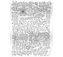 b&w 1D Collage Poster