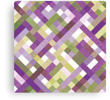 Retro Geometric Pattern Canvas Print