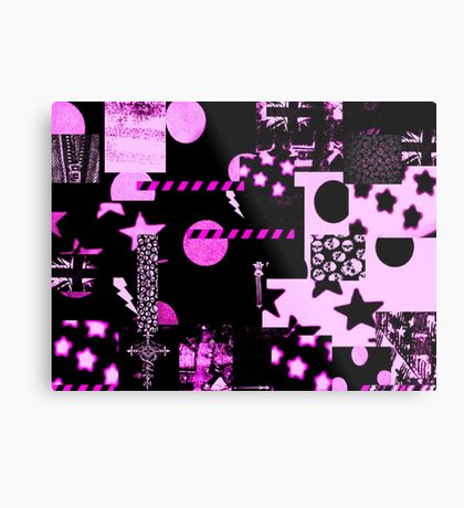 Abstract Patterns Purple Metal Print