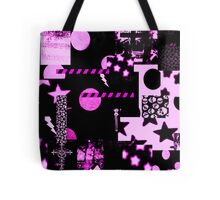 Abstract Patterns Purple Tote Bag
