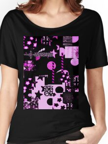 Abstract Patterns in Purple Tshirt Women's Relaxed Fit T-Shirt