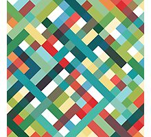 Retro Geometric Pattern Photographic Print