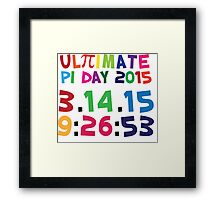 Excellent 'Ultimate Pi Day 2015 Color Explosion' T-shirts, Hoodies, Accessories and Gifts Framed Print