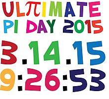 Excellent 'Ultimate Pi Day 2015 Color Explosion' T-shirts, Hoodies, Accessories and Gifts Photographic Print