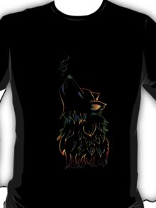 Colorful Howling Wolf T-Shirt