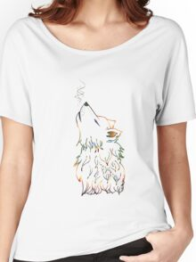 Colorful Howling Wolf Women's Relaxed Fit T-Shirt