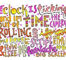 Heartache on the Big Screen Lyrics by maddiesdrawings