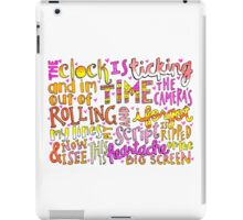 Heartache on the Big Screen Lyrics iPad Case/Skin