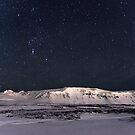 Night sky and Oreon by Ólafur Már Sigurðsson