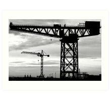 Cranes. Barrow-in-Furness  Art Print