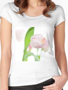 gentle pink tulips Women's Fitted Scoop T-Shirt