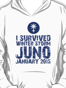 Cool 'I Survived Winter Storm Juno January 2015' T-shirts, Hoodies, Accessories and Gifts T-Shirt