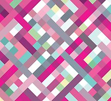 Retro Geometric Pattern by Mike Taylor