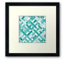 Retro Geometric Pattern Framed Print